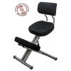 Коленный стул KM01ВМ со спинкой (каркас из металла, механическая регулировка)